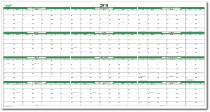 2018 Wall Calendar Design, 2018 Wall Calendar