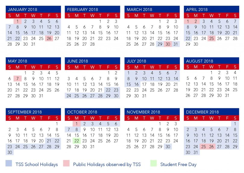 Yearly Calendar 2019 with QLD (Queensland) Holidays