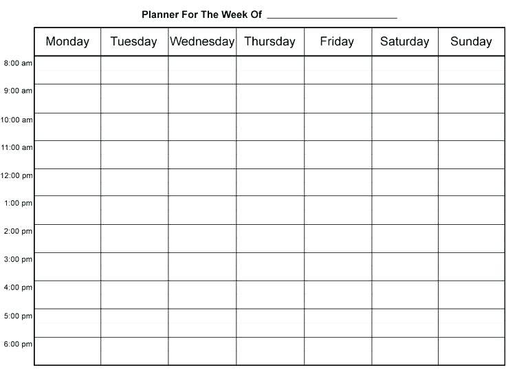 free blank schedule calendar printable templates printable