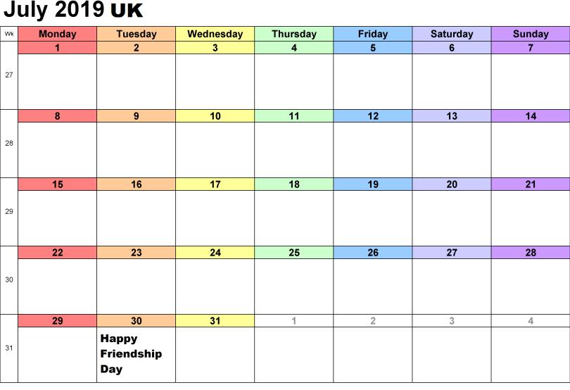 2019 Friendship Day in UK