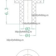 Размеры Резиновый уплотнитель для СНПЧ и картриджей Epson, Canon, HP, Brother (Tuber rubber)
