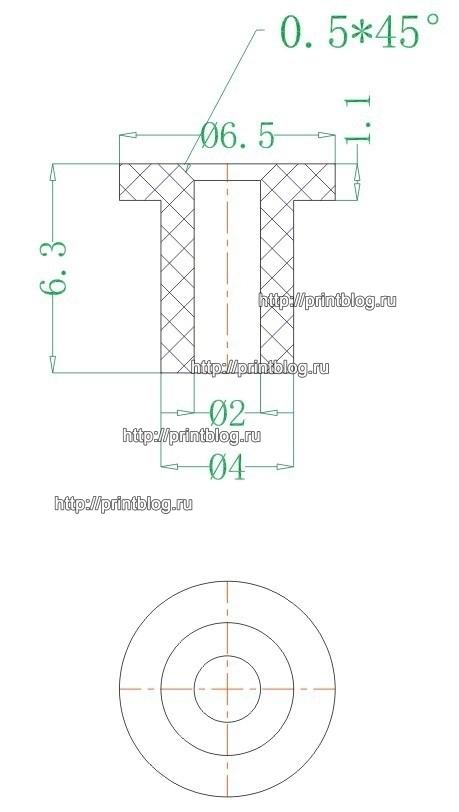 Резиновый уплотнитель для СНПЧ и картриджей Epson, Canon, HP, Brother (Tuber rubber)