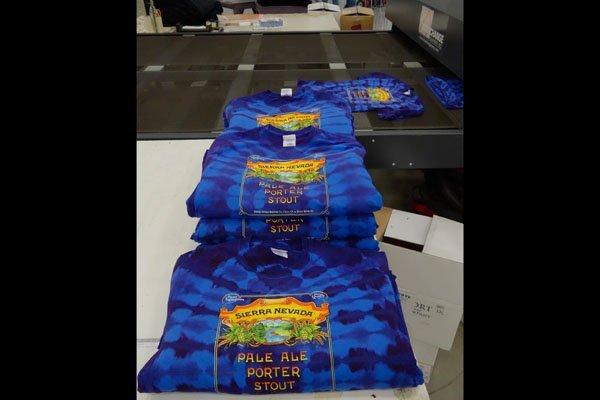 Screen printed tie dyes