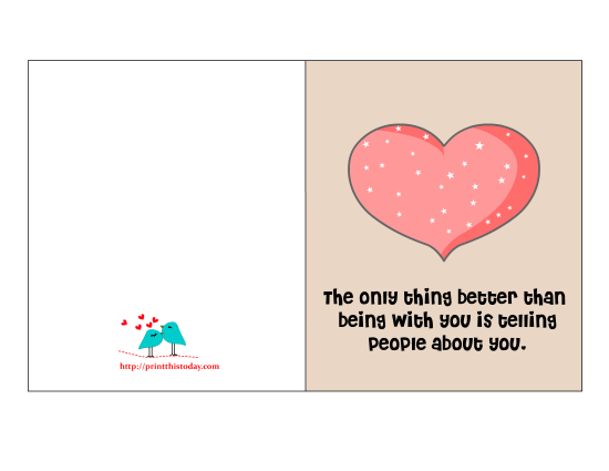 Valentine Card With Cute Love Quote. 1650 x 1275.Romantic Valentine Sayings Quotes