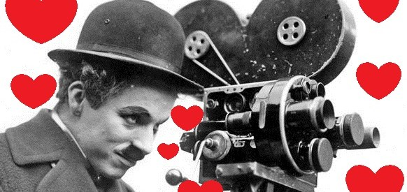 Chaplin in character behind camera-Credit Roy Export Company Establishment