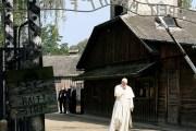 Papa përlotet gjatë vizitës në kampin e Aushvicit