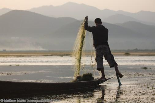 Inle Lake Leg Rowing Fisherman