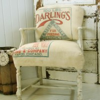 Vintage Feed Sack Chair {Themed Makeover Day}