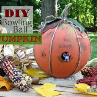 DIY Bowling Ball Pumpkin