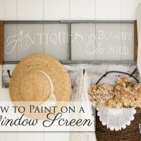 How to Paint on a Window Screen