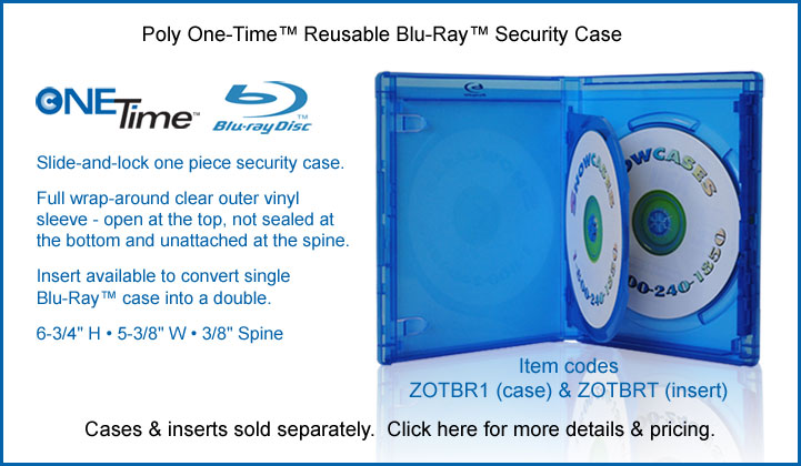 Blu-Ray One-Time™ Reusable Poly Security Case