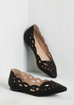 Shoes - On Second Trot Flat in Noir