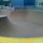 The deep-end of the Bowl at Burton's Burlington Skatepark
