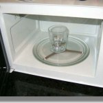 agua microondas