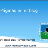 Paginas en un Blog