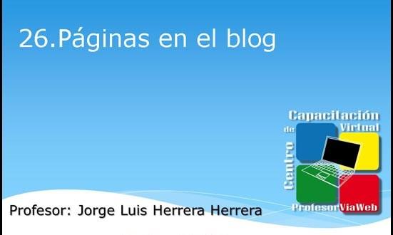 paginas en el blog