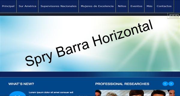 barra horizontal spry