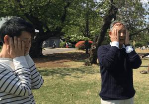 福田ゴンベイ新宿御苑立禅瞑想