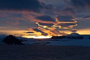 Beautiful light over the Weddell Sea
