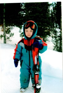 Louis first time on skis at 2 1_2 yrs old copy