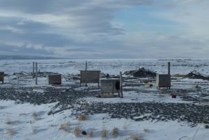 Dog houses on the Bering Sea coast. Ever wonder what's the story behind a photograph?