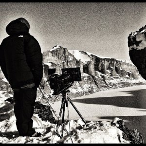 Filming on Baffin Island, Canada