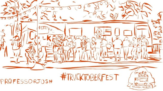 Trucktoberfest Trucks and Tech Sketch by Professor Josh