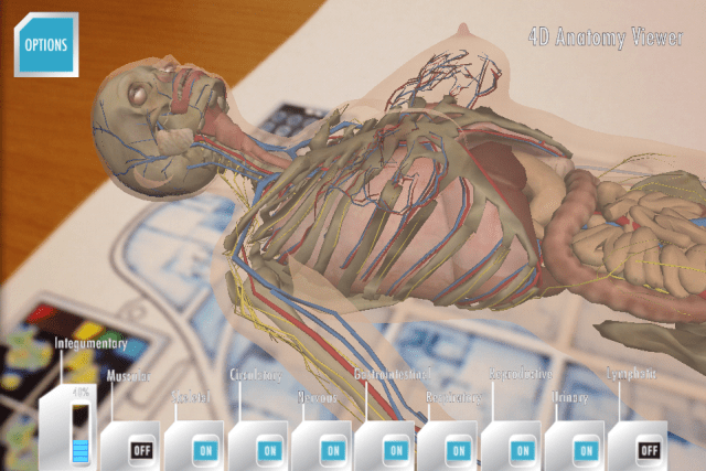 Daqri Anatomy 4D Augmentative Reality Scan Zoomed