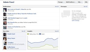 Facebook Timeline Pages Admin Panel Update