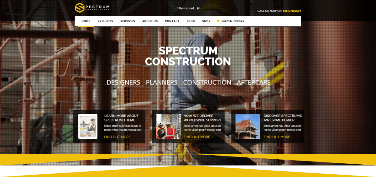 Best Wordpress Themes for Construction Businesses and Companies 2016
