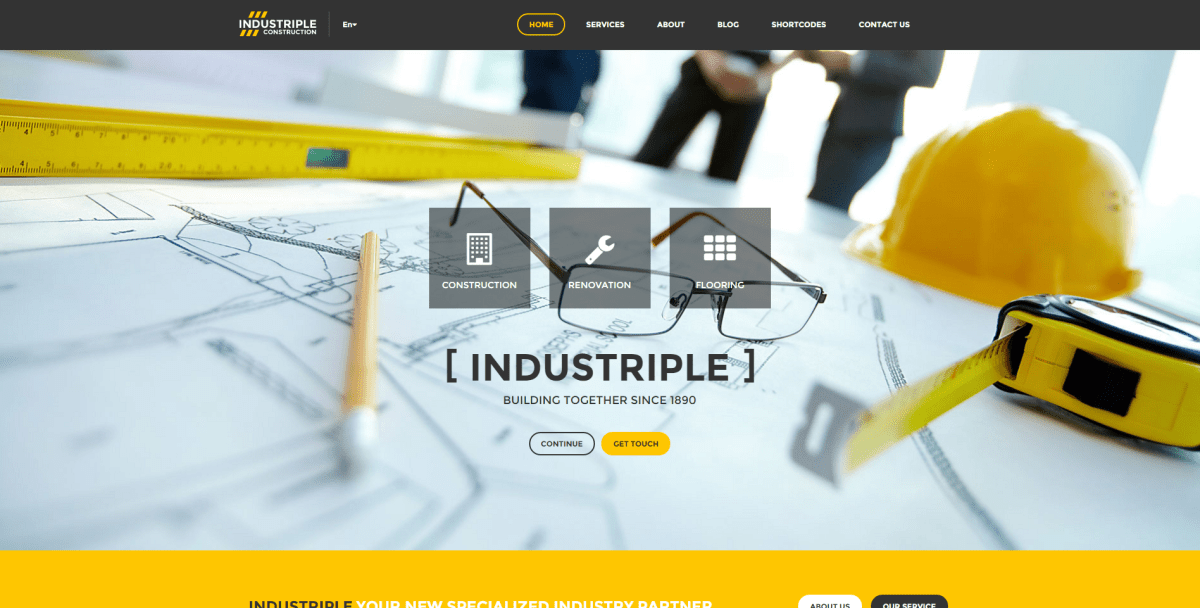 Best Wordpress Themes for Industry Business 2016