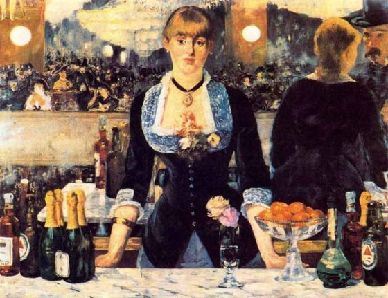 Manet- Un Bar aux Folies-Bergère, 1881-1882, Londres, Courtauld Institute of Art