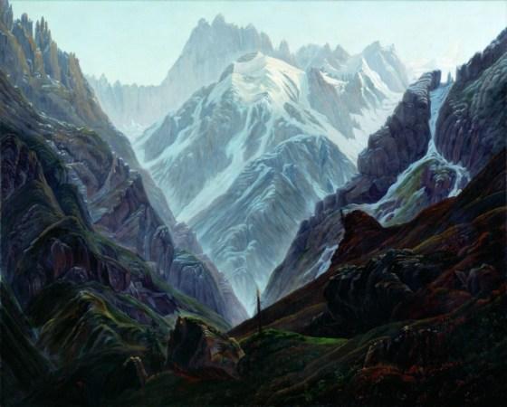 """Kasper David Friedrich, """"Haute Montagne"""", 1824"""