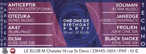 One One Six - Klub