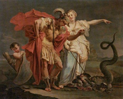Médée et Jason neutralisant le dragon gardien de la Toison d'or