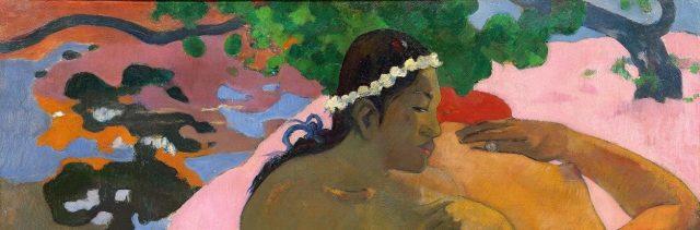 Paul Gauguin, Aha oé feii ? (Eh, quoi! Tu es jalouse?), 1892. Moscou, Musée d'État des Beaux-Arts Pouchkine