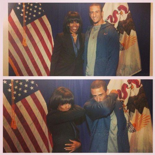 Colin-Kaepernick-Michelle-Obama-Kaepernicking