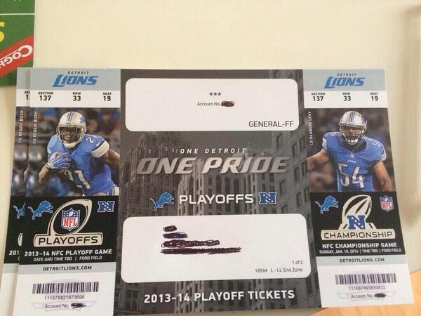 lions playoff tickets