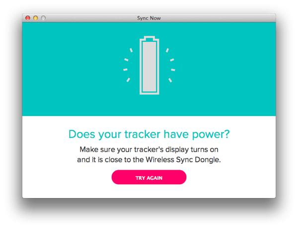 Fitbit dongle synch