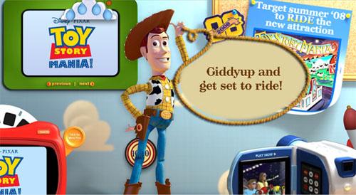 Toy Story Mania Webpage