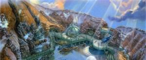 Rendering of Mysterious Island, Tokyo DisneySea
