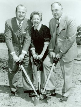 Groundbreaking of the Disneyland Hotel