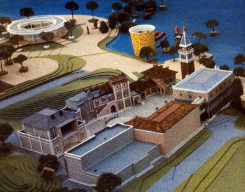 Imagineering model of Italy pavilion