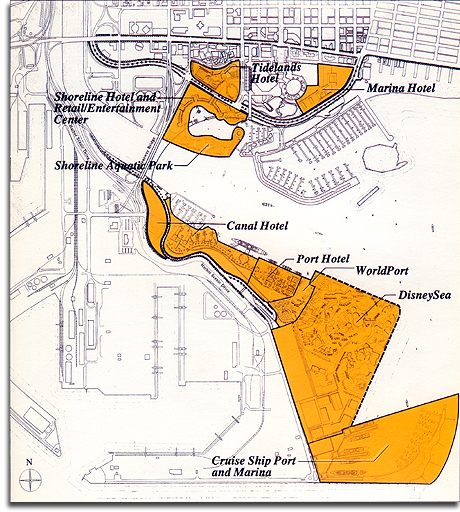 Port Disney Site Plan, 1990 (small)