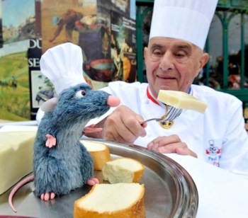 Chef Paul Bocuse and animatronic Remy