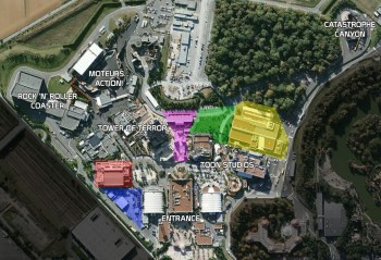 Walt Disney Studios Paris expansion sites