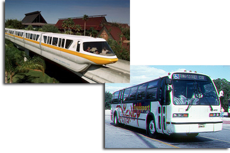 Walt Disney World Monorail and Bus