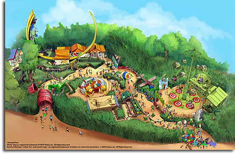 Rendering of Toy Story Land for Hong Kong Disneyland, 2009