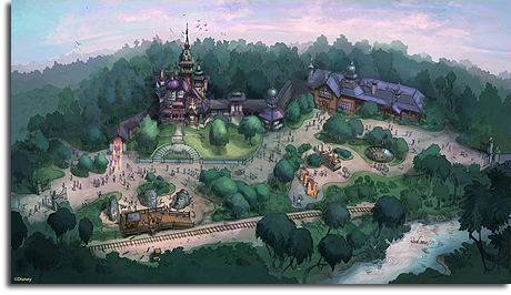 Rendering of Mystic Point for Hong Kong Disneyland, 2009