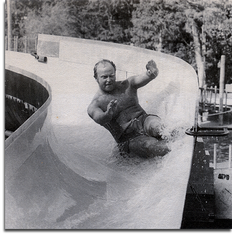 Dick Nunis testing River Country, 1976